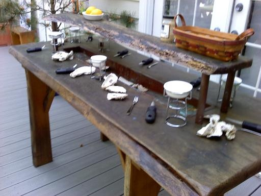 Oyster Table Maybe We Can Build One Garden Patio