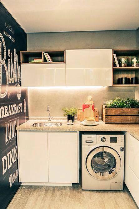 Painel decorativo na lavanderia