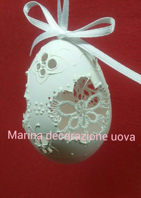 Uovo d'oca con pizzo chiacchierino