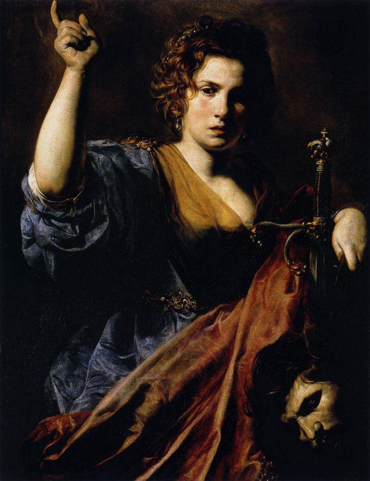 The Biblical Judith!  VALENTIN DE BOULOGNE  French painter (b. 1591, Coulommier-en-Brie, d. 1632, Roma)  Judith  1626-28  Oil on canvas, 97 x 74 cm  Musée des Augustins, Toulouse