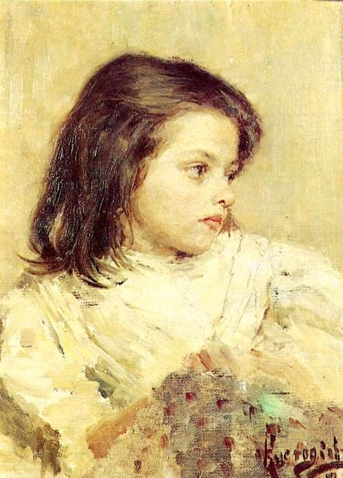 Кустодиев Б.М. Портрет девочки. 1897 г.