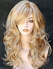 Women Synthetic Wig Long Wavy Blonde Halloween Wig Carnival Wig Costume Wig – GBP £ 15.97