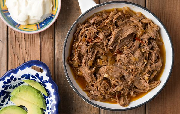 A recipe for Mexican barbacoa with venison. The venison is braised with spices, pulled and tossed with a little oil to keep it moist. It's great taco meat!