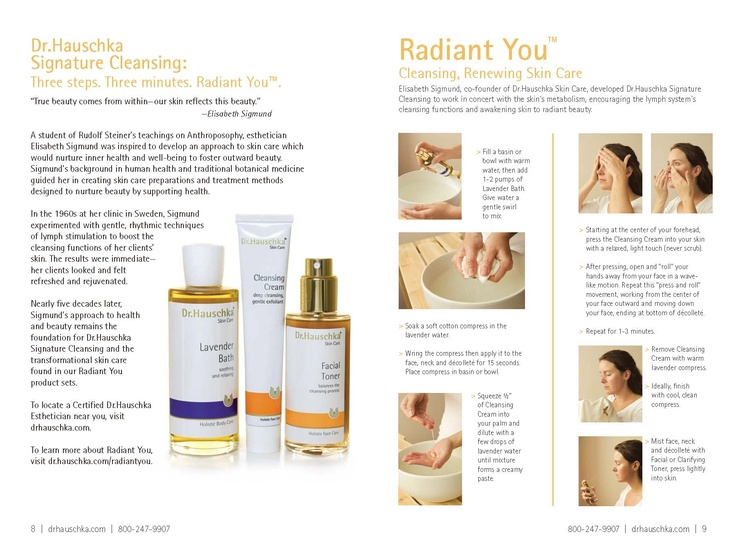 Directions for Dr. Hauschka Signature Cleansing