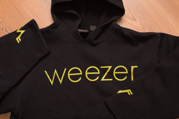 2001 WEEZER Hoodie, Rock Music Band Logo, Hooded Sweatshirt, Giant, Skater Shirt | eBay