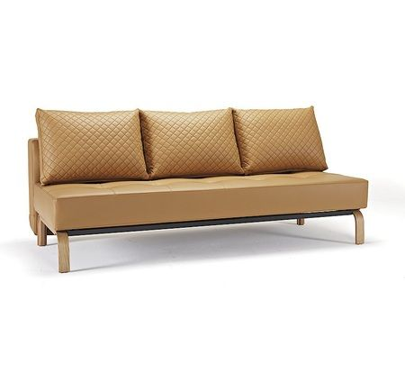 Sly Deluxe Q Full Size Leather Sofa Bed