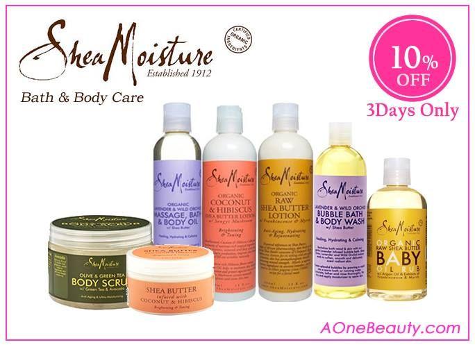 10% OFF on Shea Moisture Bath & Body Care until Sunday http://www.aonebeauty.com/brands/Shea-Moisture.html?sort=newest #sheamoisture #bath #bodycare #bodylotion #bodywash #sale