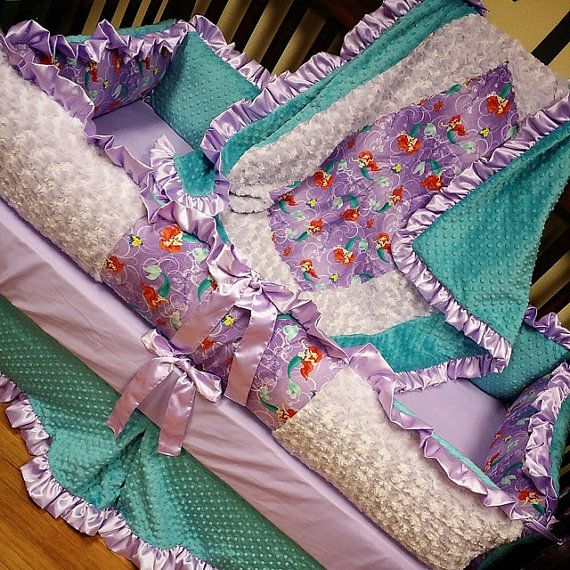 Little Mermaid Crib Set. by GraceMadisonDesigns on Etsy