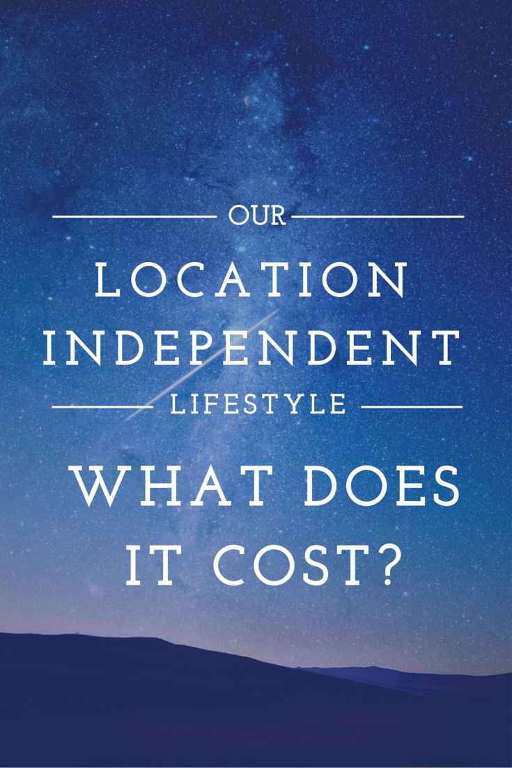 Our location independent lifestyle: What Does it Cost? So many people have been asking us how much money we spend a month as digital nomads, here are some answers on the cost of living this lifestyle in exotic locales! http://www.goatsontheroad.com/our-location-independent-lifestyle-what-does-it-cost/