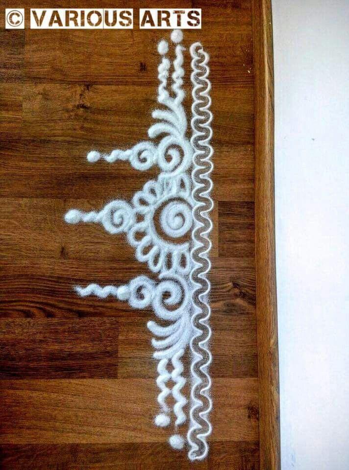 267 best images about rangoli on pinterest hindus for Door rangoli design images new