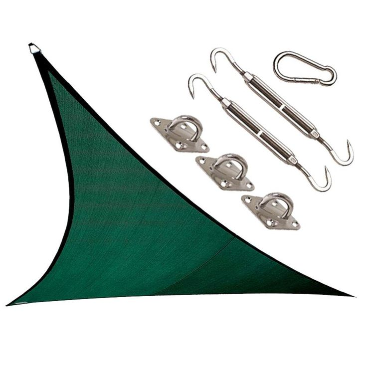 Coolaroo Coolhaven 12 ft. x 12 ft. Heritage Green Triangle Shade Sail with Kit