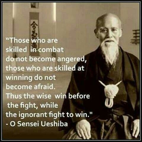 """Thrust the wise win before the fight, while the ignorant fight to win,,"