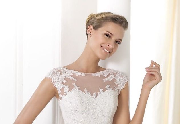 Removeable lace appliqued under or over bodice. Worn over or under your strapless gown for a 2nd look, or some extra coverage.  Have this custom made on Etsy by Rosemarydesignsbride