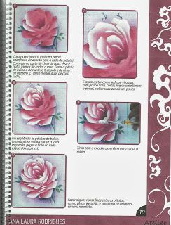 rosa porcelana/Wilma Cherpinsky board on painting roses, beautiful projects!