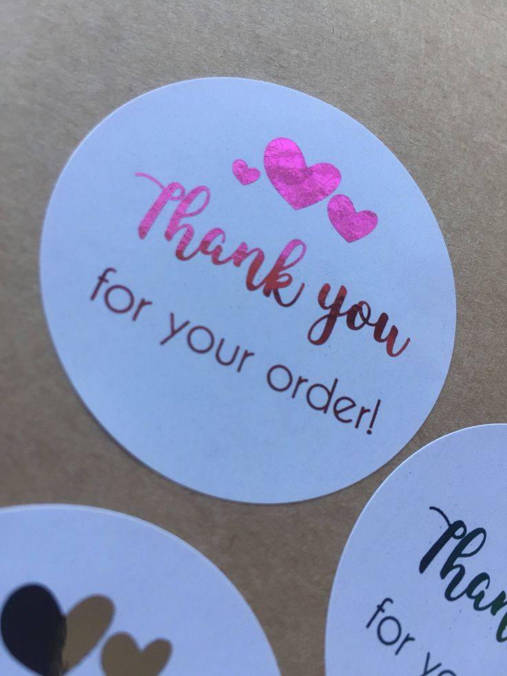 24 x Thank you for your order Stickers - Foil Stickers - Business Stickers - Business Branding - Branding Package - Packaging Box - Foiling