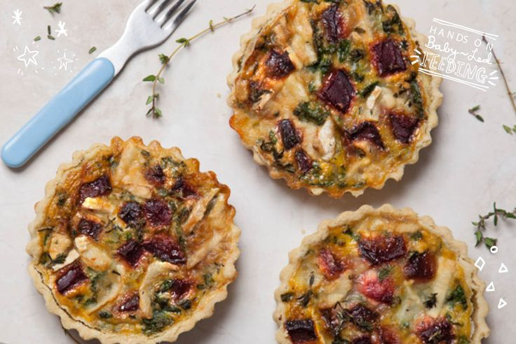 Delicious super tart filled with beetroot, kale and goat cheese. Really great recipe for an easy family dinner everyone will love.