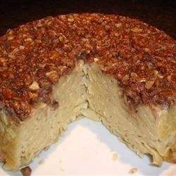 A noodle kugel coated with a brown sugar and pecan mixture served hot out of the oven is sweet enough to work as a dessert.