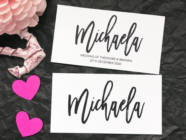 Wedding+Name+Placecards+Personalised+Name+Escort+Cards+flat+business+card+style