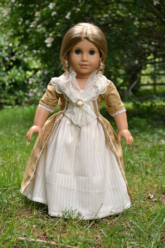 Doll Dress Colonial Gown for American Girl by PemberleyThreads