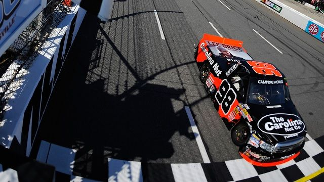 Johnny Sauter wins the NASCAR Camping World Truck Series Kroger 250
