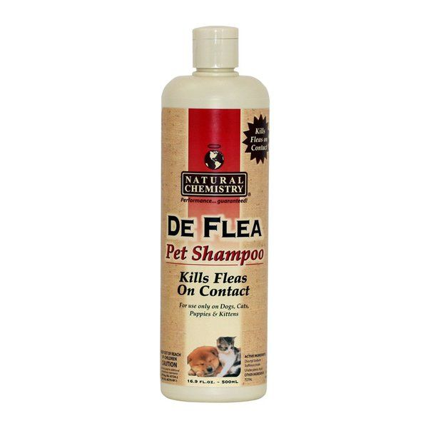 Safe for people and pets, De Flea Pet Shampoo kills fleas on contact without the use of pyrethrin based pesticides.   Also effective on ticks and lice. Parasites do not become resistant, so the product never loses its effectiveness.   De Flea products work for all stages of an insect's life cycle, eggs, larvae, pupae and adult -- effectively eliminating all insects from the home.