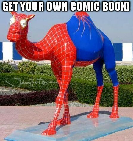 https://global.johnnybet.com/real-madrid-sporting#picture?id=7468 #funnymemes #camel #SpiderMan #costume #comicbook