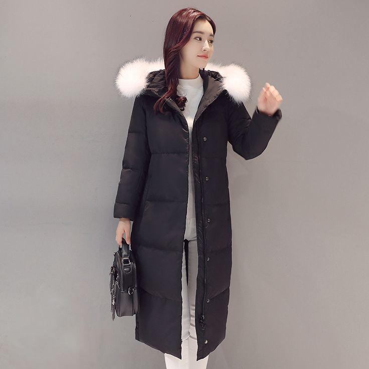 2016 Winter Jackets For Women Long Women's Parka Jacket Winter Coat Lady Clothing Outerwear Female Jackets Fox fur collar