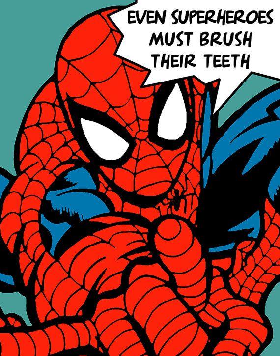 78 best images about hygiene rocks on pinterest dental for Spiderman bathroom ideas