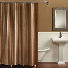 Best Bathroom Makeover Images On Pinterest Bathroom Makeovers - Brown and beige shower curtain