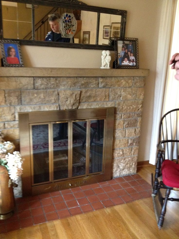 Fireplace before- 2013  ?heat resistant spray paint