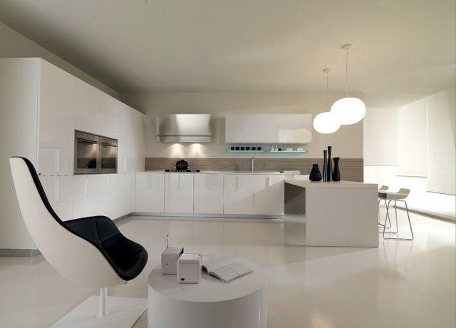 cuisine minimaliste de couleur blanche 25 ides pour vous inspirer