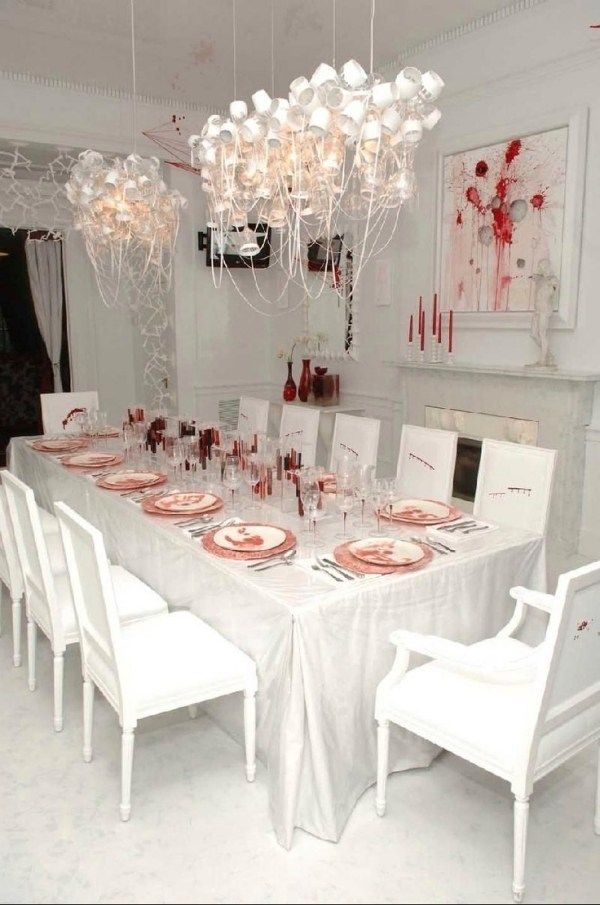 scary #halloween dining table decorations