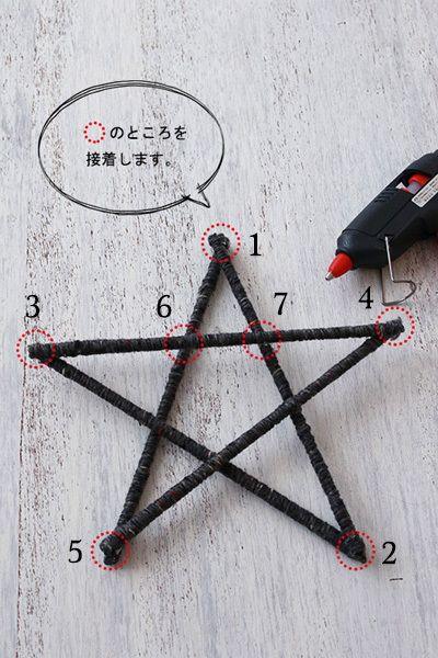 ★毛糸をぐるぐる巻いて留めるだけ!割り箸で作る星形オブジェ   インテリアと暮らしのヒント
