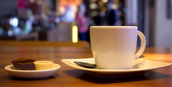 Cup of Hot Coffee in the Restaurant