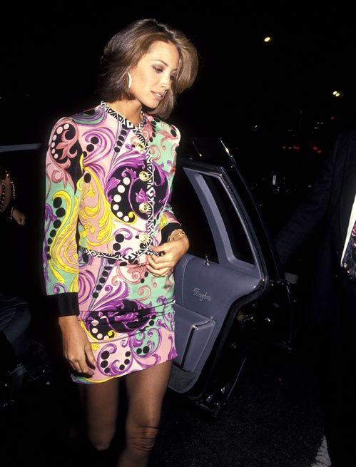 Christy Turlington en Versace au mariage Haimoff - Grubman à New York en 1991