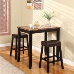 You'll find great options of 3 piece small kitchen table sets in this page. They are stylish dining tables that fix well at small area.    My...