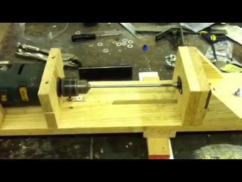 Homemade Wood Lathe #5 - YouTube