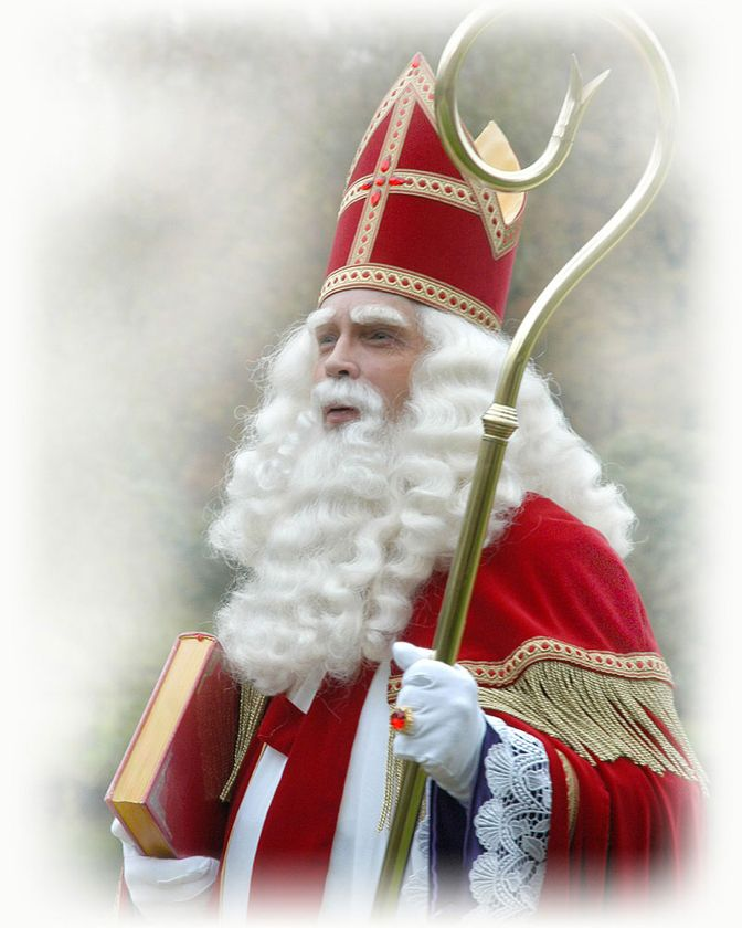 Sint Nicolaas with his book and staf |Pinned from PinTo for iPad|