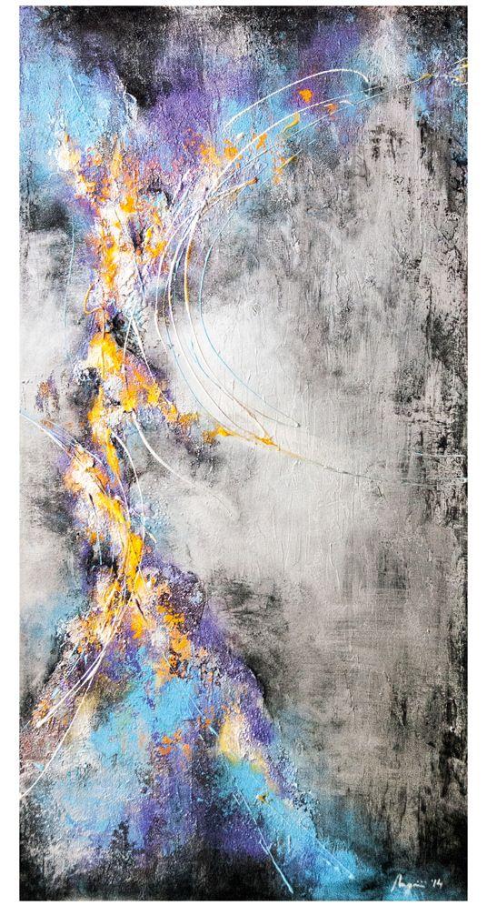 Unexpected Reaction (2014) Acrylic on canvas 24 x 48 x 1.75