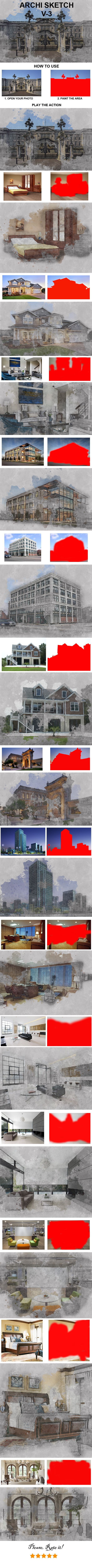 Archi Sketch Photoshop Action - Photo Effects Actions