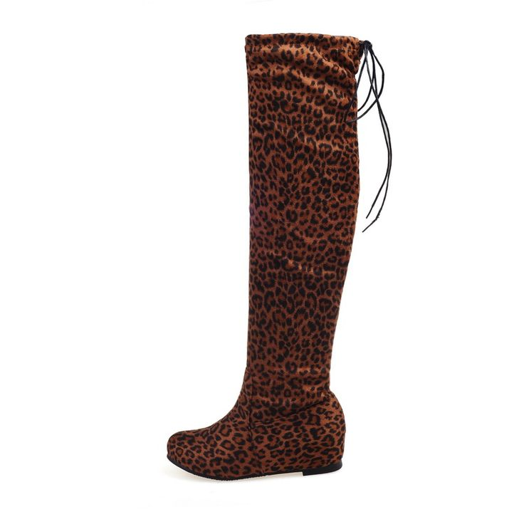 Stretch Suede Leather Women Over The Knee Boots Height Increasing Shoes Sexy Slim Autumn Winter High Long Boots Big Size 7780