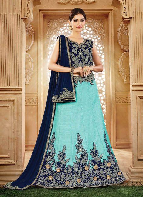 #Aqua #Blue Shade #Bridesmaid #Lehenga