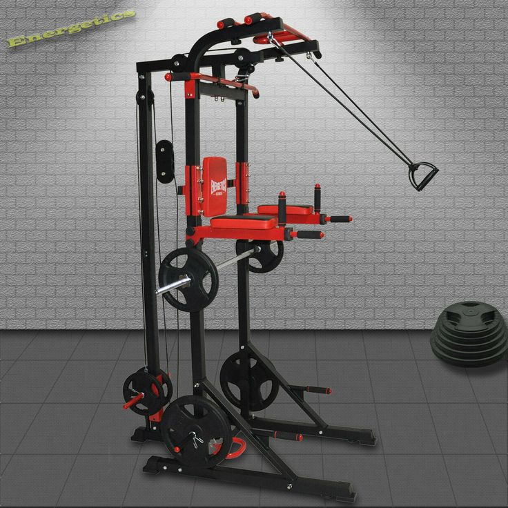 Power Tower Power Rack Lat Pulldown Row Pulley Chin Up Station Dips Ebay Chin Up Station Power Rack Lat Pulldown