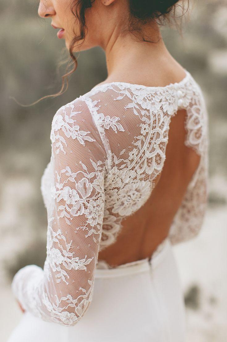 Hochzeitskleid Spitze Ruckenausschnitt Boho Hochzeitskleid