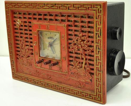 vintage dumont telechron electric alarm clock radio works ebay vintages pinterest radios. Black Bedroom Furniture Sets. Home Design Ideas