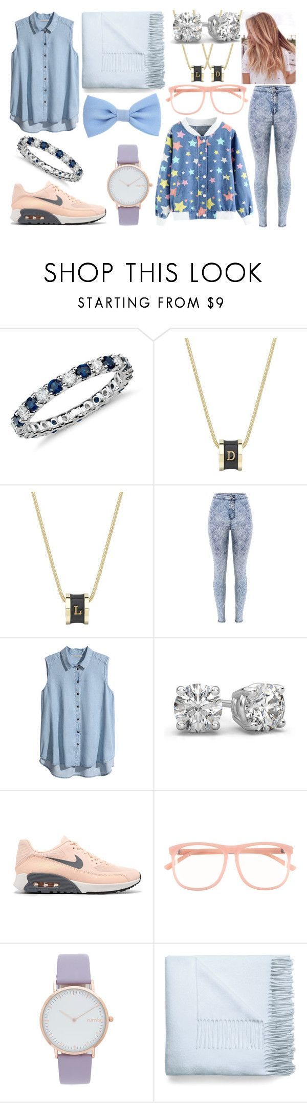 """""""#95"""" by shadouww ❤ liked on Polyvore featuring Blue Nile, Whistle & Bango, H&M, NIKE, RumbaTime and Acne Studios"""