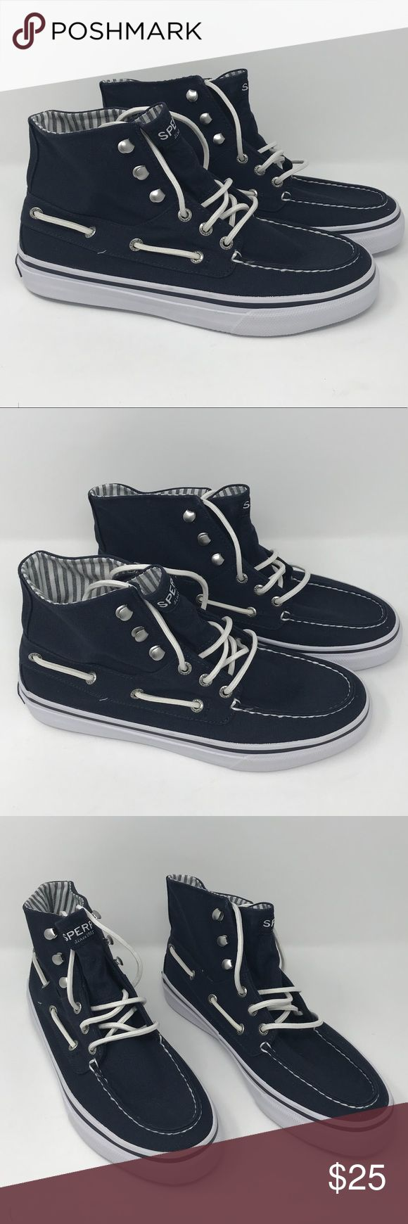 Sperry Top-Sider Bahama Sneaker Boot Sperry Top-Sider Men's Bahama Sneaker Boot  Size: 9  Color: Navy Blue / White  Condition: New without original box Sperry Shoes Sneakers