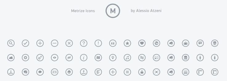 Free icons Metrize