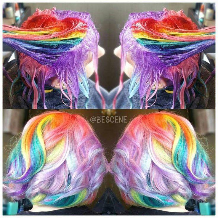 Rainbow hair!!! Must be real nice.