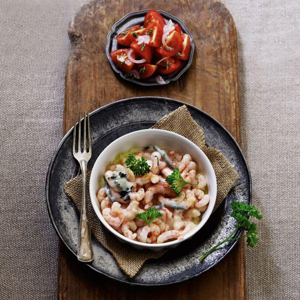 Rejer med gorgonzola